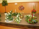 Tableau of Christmas Flower Arrangements part two